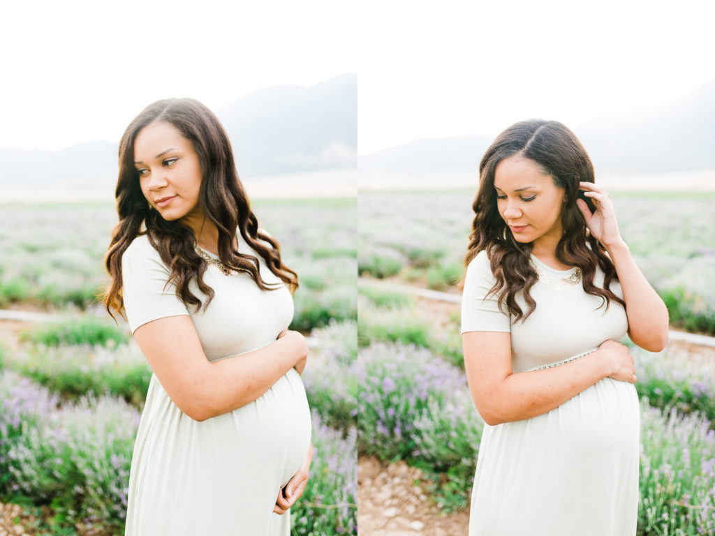 Hallie Maternity Session | Mona Lavender Fields | Utah Maternity Sessions