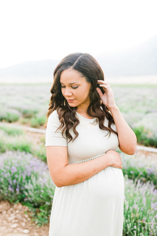 Hallie | Mona Lavender Fields | Utah Maternity Session