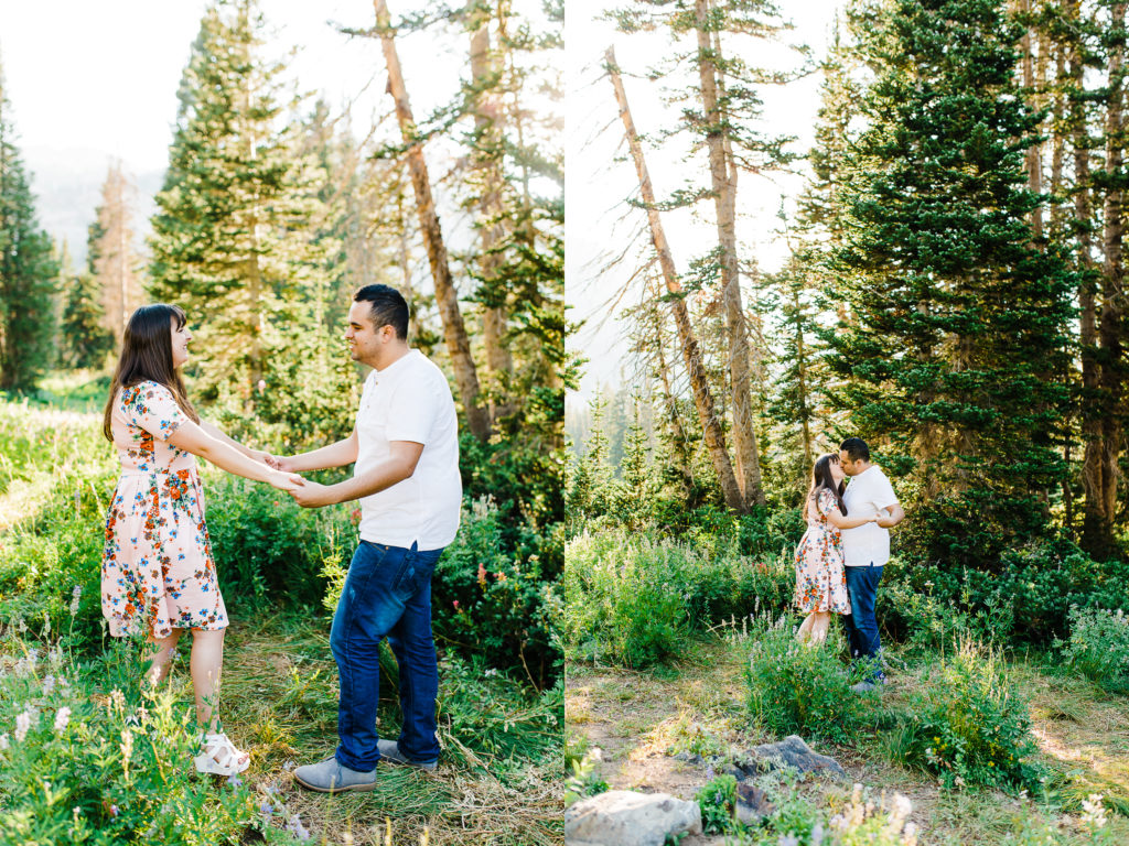 Alex & Kelci | Albion Basin Engagement Session