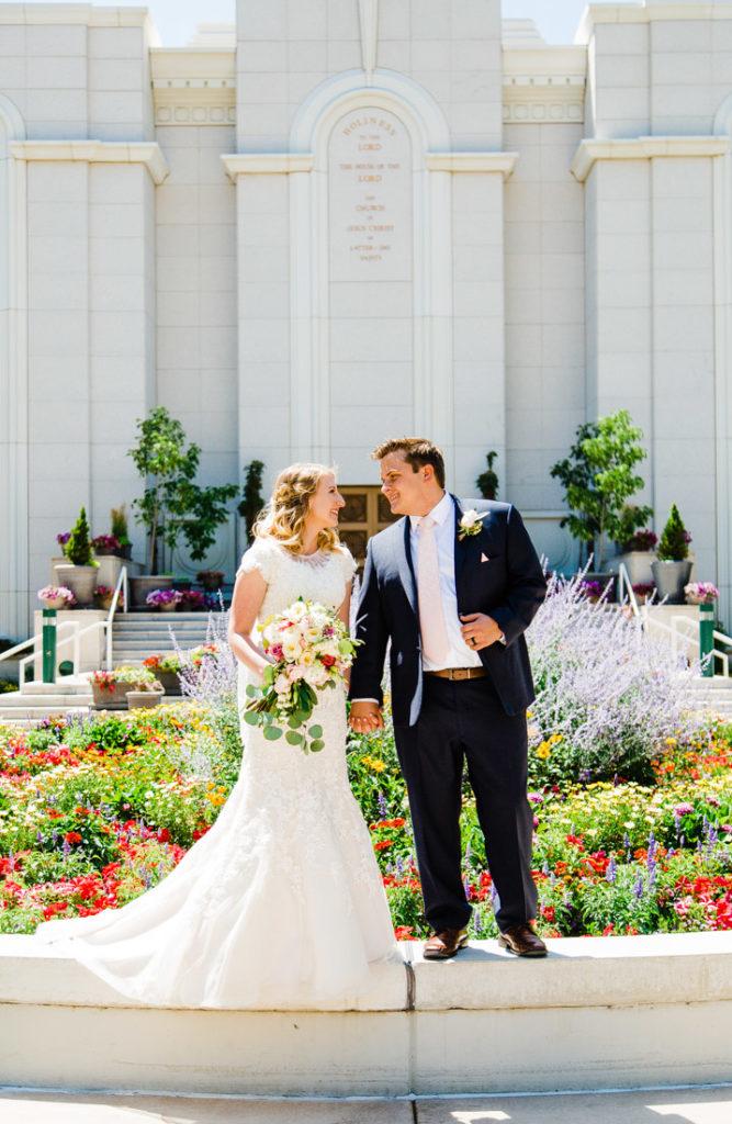 Bountiful Temple Wedding | Utah Wedding Photographer | Truly Photography
