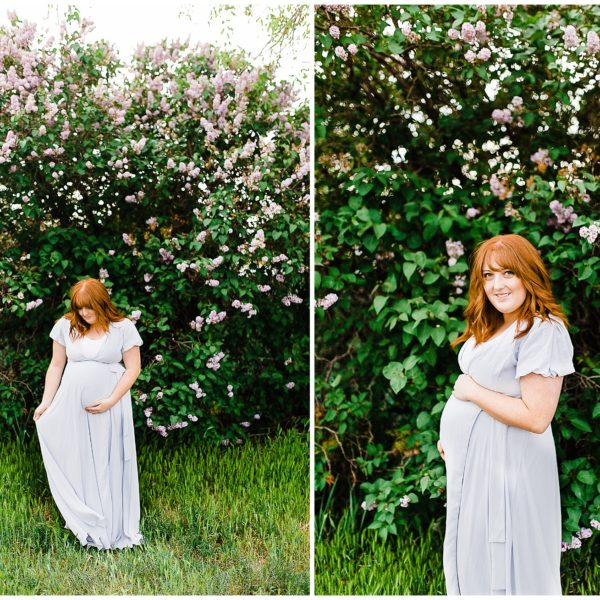 Lilac Maternity Session | Utah Photographer