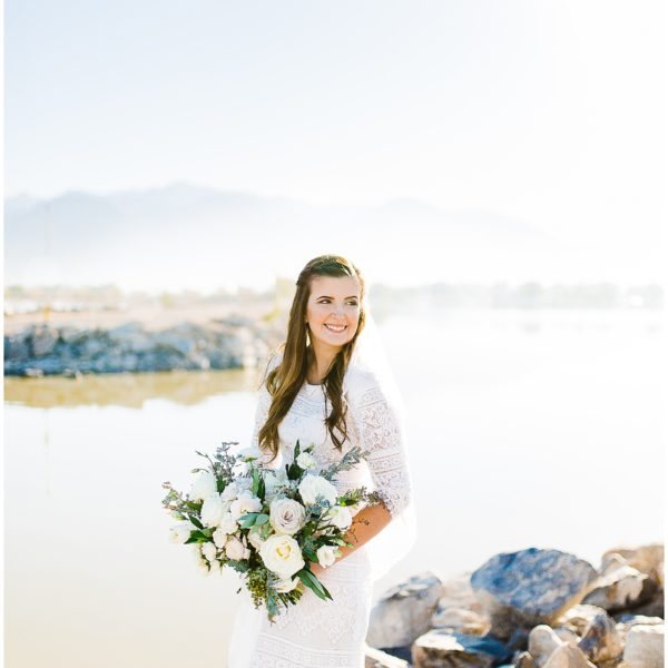 Utah Lake Bridals | Utah Wedding Photographer