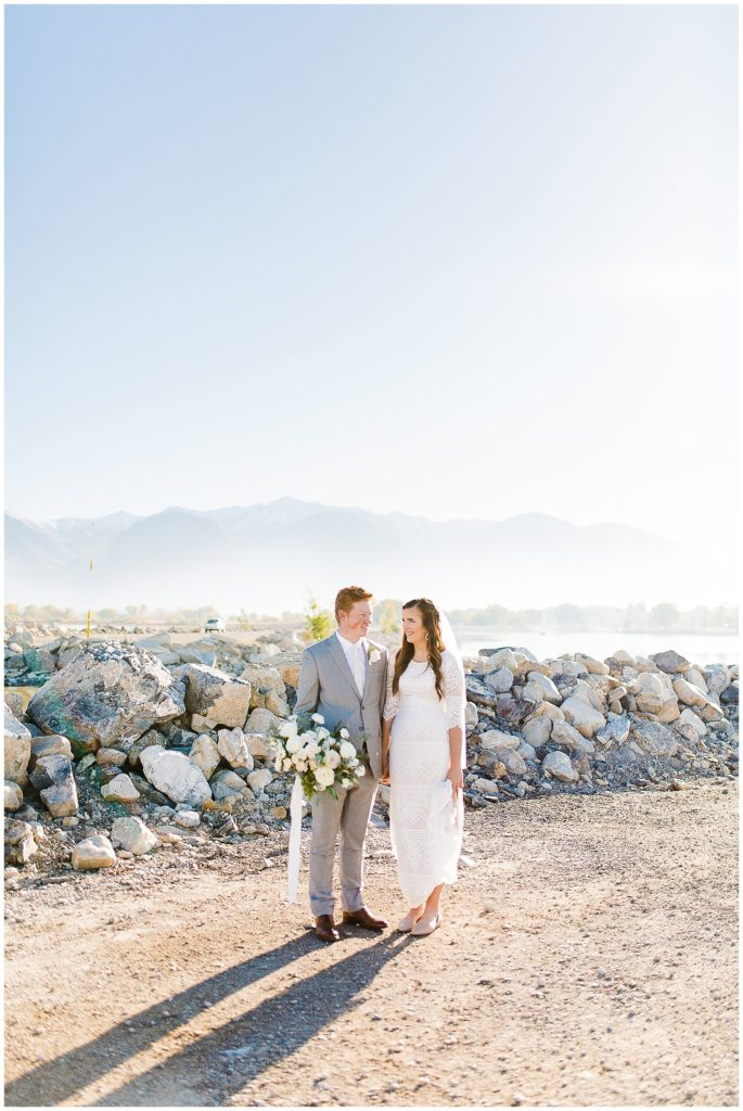 Utah Lake Bridals | Utah Wedding Photographer