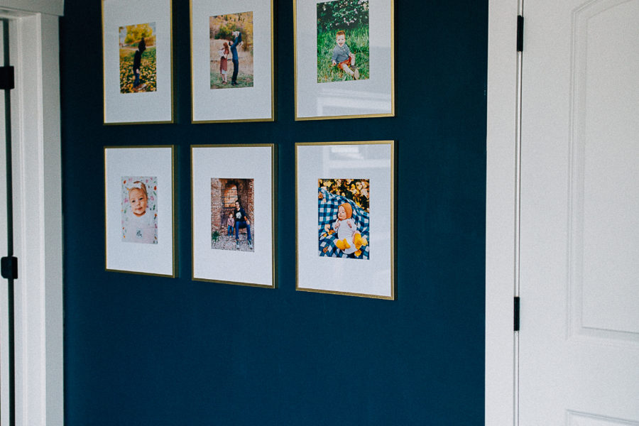 DIY Blue Gallery Wall