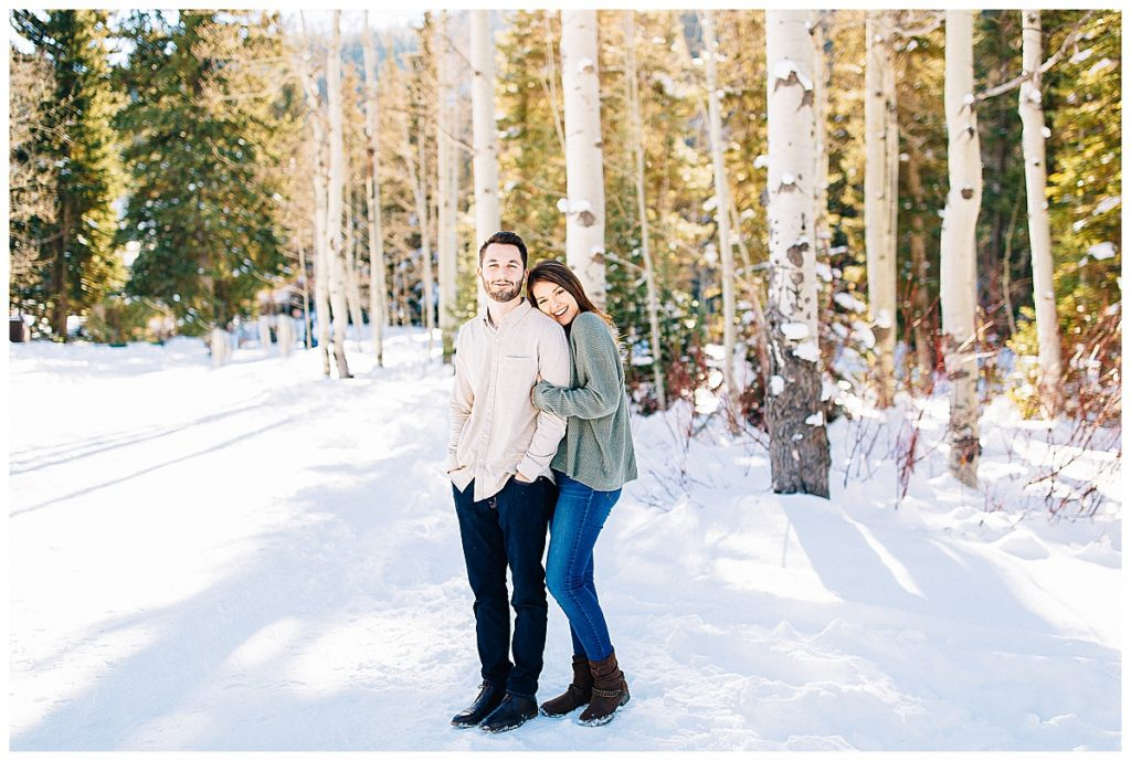 spruces campground engagement session   Utah wedding photographer