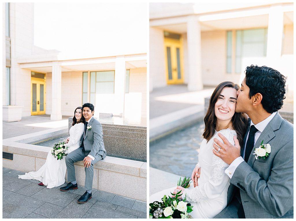 Oquirrh Mountain Temple Wedding | Utah Wedding Photographer