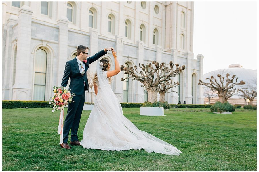 Kyle + Megan | Salt Lake Temple Wedding Pictures